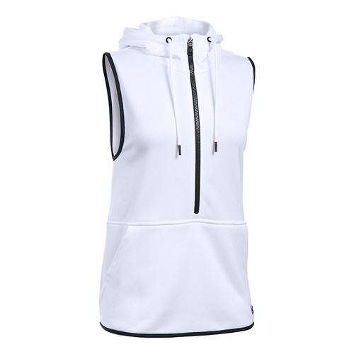Womens Under Armour Lightweight Storm Fleece Vest Sleeveless & Tank Tops Technical Tops - White XS