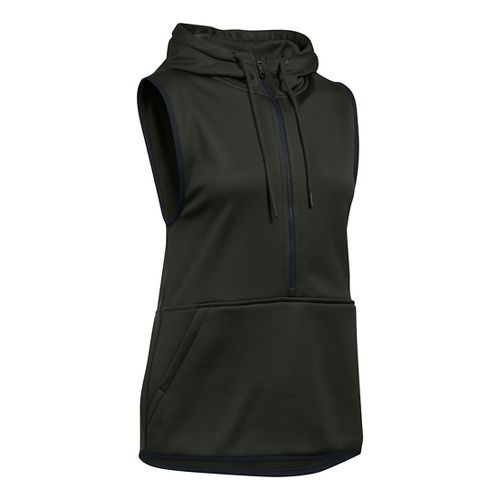 Womens Under Armour Lightweight Storm Fleece Vest Sleeveless & Tank Tops Technical Tops - White XS