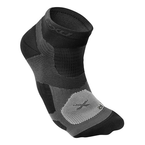 Mens 2XU Long Range VECTR Sock Injury Recovery - Black/Black S