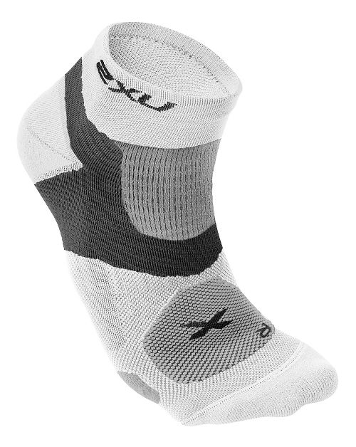 Mens 2XU Long Range VECTR Sock Injury Recovery - White/White S