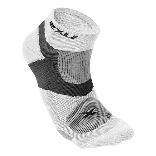 Mens 2XU Long Range VECTR Sock Injury Recovery - White/White S