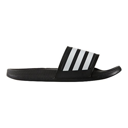 Mens adidas Adilette CF Ultra Stripes Sandals Shoe - Core Black/White 6