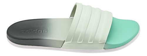 Womens adidas Adilette CF+ Fade Sandals Shoe - Green/Grey 10