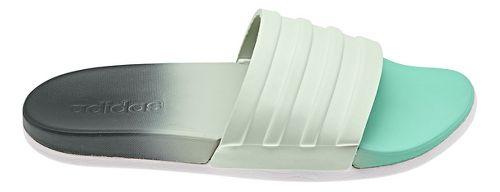 Womens adidas Adilette CF+ Fade Sandals Shoe - Green/Grey 7