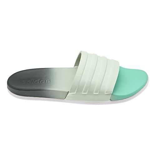 Womens adidas Adilette CF+ Fade Sandals Shoe - Green/Grey 8
