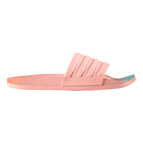 Womens adidas Adilette CF+ Fade Sandals Shoe - Coral/Mint 9