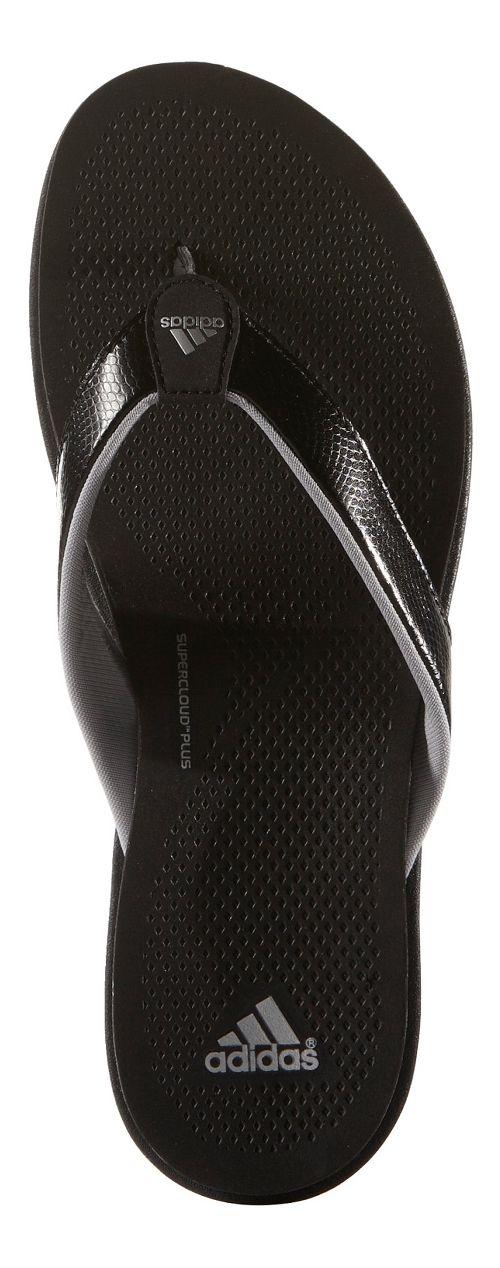Womens adidas Cloudfoam Ultra Y Sandals Shoe - Black/Grey 5