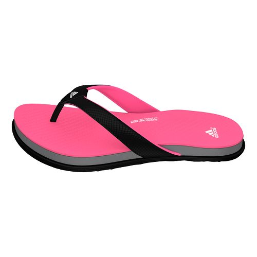 Womens adidas Cloudfoam Ultra Y Sandals Shoe - Black/Pink/Grey 6