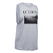 Womens Under Armour No Limits Muscle Sleeveless & Tank Technical Tops