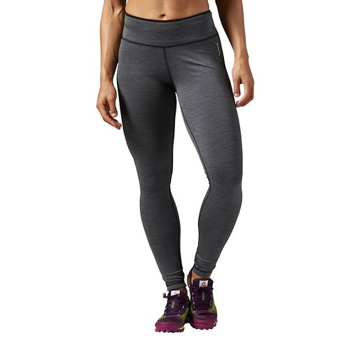 Womens Reebok Workout Ready Reversible Tights & Leggings Pants - Black/Alloy S