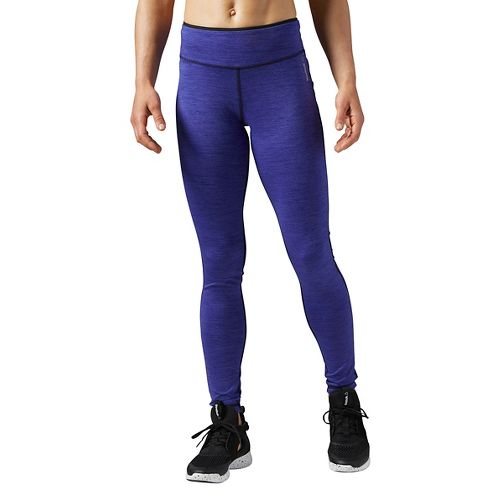 Womens Reebok Workout Ready Reversible Tights & Leggings Pants - Purple XS
