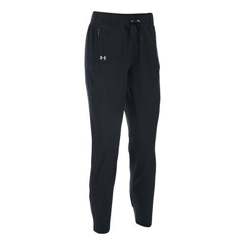 Womens Under Armour Run True Pants - Black XSR
