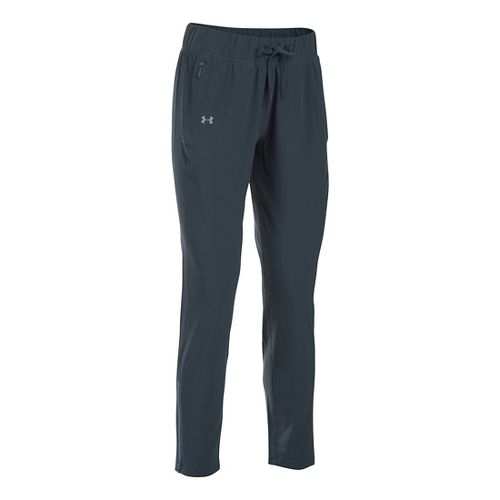 Womens Under Armour Run True Pants - Stealth Grey XLR