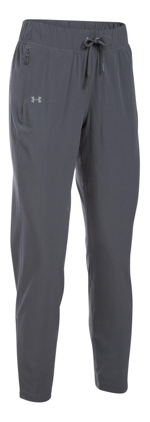 Womens Under Armour Run True Pants - Rhino Grey L