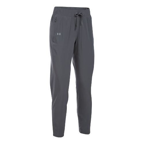Womens Under Armour Run True Pants - Rhino Grey M