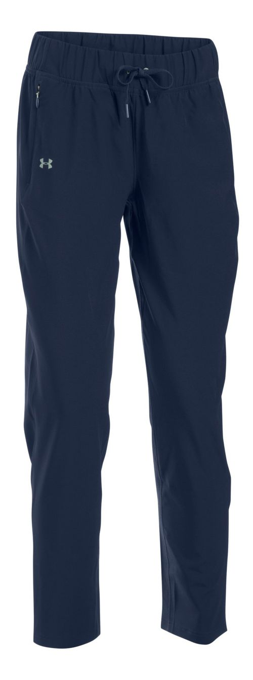 Womens Under Armour Run True Pants - Midnight Navy S