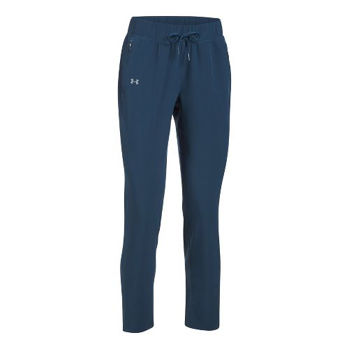 Womens Under Armour Run True Pants - Brown Overflow L