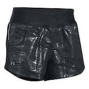 Womens Under Armour Run True Printed Lined Shorts - Black/Black XL