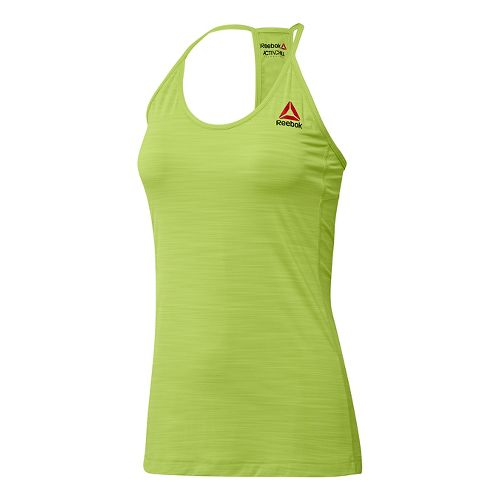 Womens Reebok ACTIVChill Sleeveless & Tank Tops Technical Tops - Kiwi Green XL