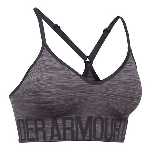 Womens Under Armour Seamless Streaky Heather Sports Bras - Carbon Heather/Grey L