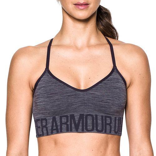 Womens Under Armour Seamless Streaky Heather Sports Bras - Imperial Purple XS