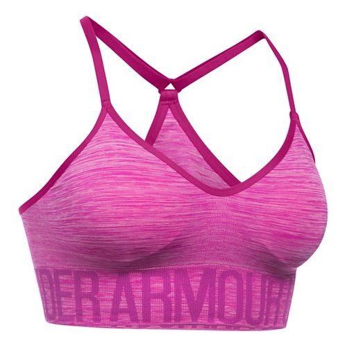 Womens Under Armour Seamless Streaky Heather Sports Bras - Magenta Shock XS