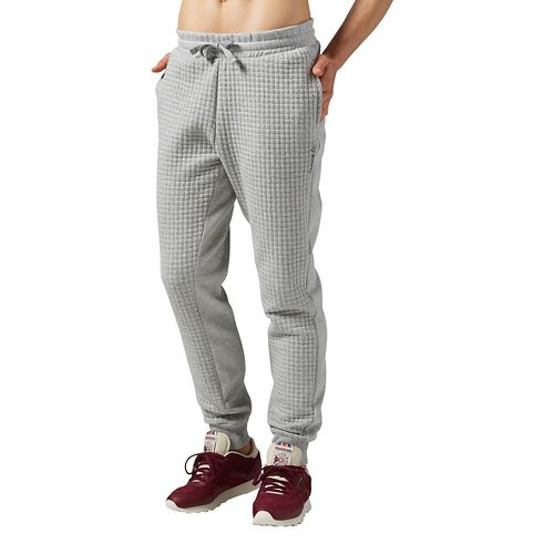 Womens Reebok Elements Quilted Pants - Grey Heather XL