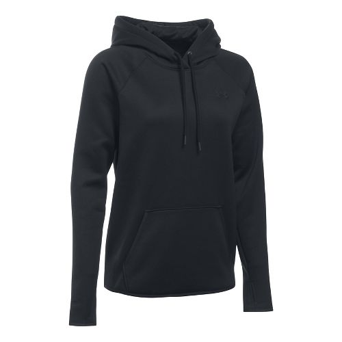 Womens Under Armour Storm Armour Fleece Icon Half-Zips & Hoodies Technical Tops - Black XS