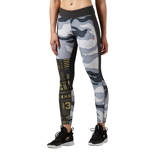 Womens Reebok Elite Tights & Leggings Pants - Coal M