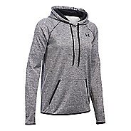 Womens Under Armour Storm Armour Fleece Icon Twist Half-Zips & Hoodies Technical Tops - Black XS