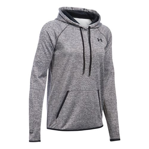Womens Under Armour Storm Armour Fleece Icon Twist Half-Zips & Hoodies Technical Tops - Black ...