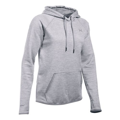 Womens Under Armour Storm Armour Fleece Icon Twist Half-Zips & Hoodies Technical Tops - Steel L