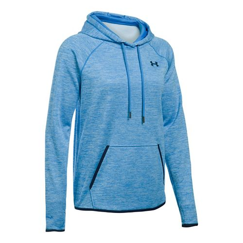 Womens Under Armour Storm Armour Fleece Icon Twist Half-Zips & Hoodies Technical Tops - Pink ...