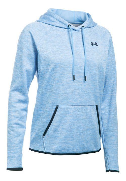 Womens Under Armour Storm Armour Fleece Icon Twist Half-Zips & Hoodies Technical Tops - Blue/Navy S