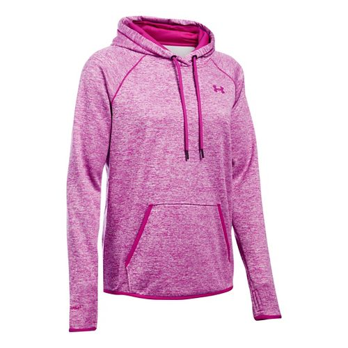 Womens Under Armour Storm Armour Fleece Icon Twist Half-Zips & Hoodies Technical Tops - Magenta ...