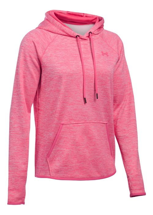 Womens Under Armour Storm Armour Fleece Icon Twist Half-Zips & Hoodies Technical Tops - Pink Sky XS