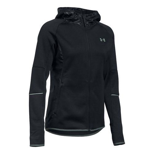 Womens Under Armour Storm Swacket Full-Zip Running Jackets - Black L