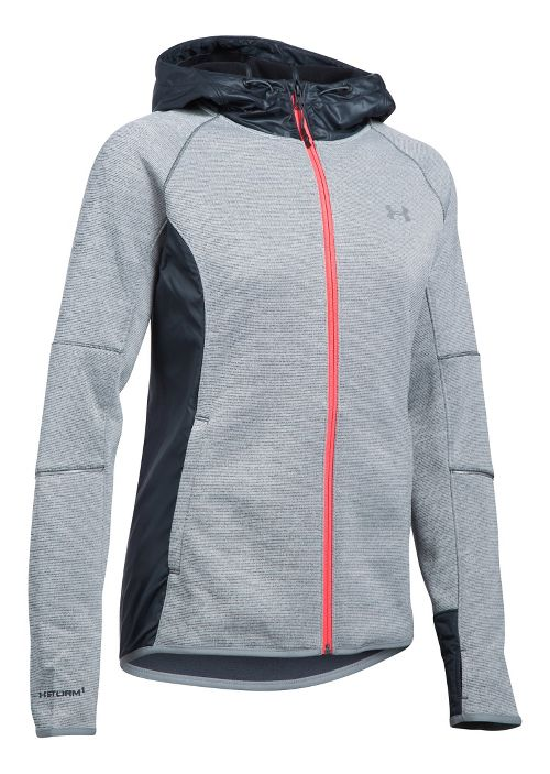 Womens Under Armour Storm Swacket Full-Zip Running Jackets - Stealth Grey S
