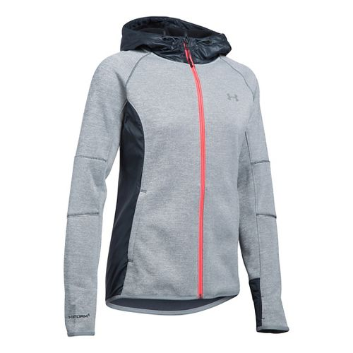 Womens Under Armour Storm Swacket Full-Zip Running Jackets - Stealth Grey XL