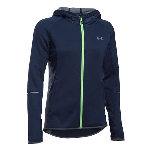 Womens Under Armour Storm Swacket Full-Zip Running Jackets - Midnight Navy XS