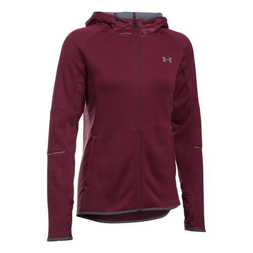 Womens Under Armour Storm Swacket Full-Zip Running Jackets - Maroon L