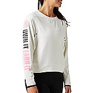Womens Reebok Avon Nov Coverup Long Sleeve Technical Tops
