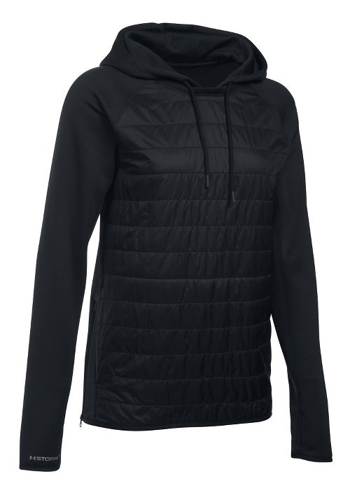 Womens Under Armour Storm Swacket Hoodie & Sweatshirts Technical Tops - Black S