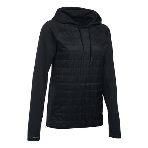 Womens Under Armour Storm Swacket Hoodie & Sweatshirts Technical Tops - Black XS