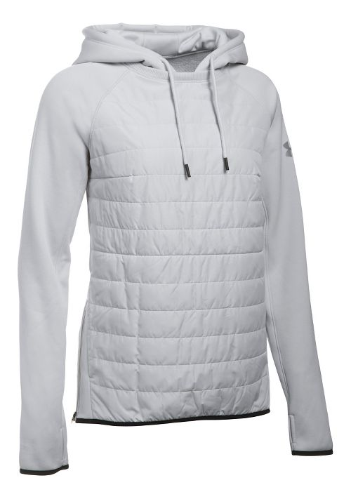 Womens Under Armour Storm Swacket Hoodie & Sweatshirts Technical Tops - Glacier Grey L