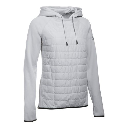 Womens Under Armour Storm Swacket Hoodie & Sweatshirts Technical Tops - Glacier Grey XL
