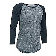 Womens Under Armour Tech 3/4 Twist Long Sleeve Technical Tops