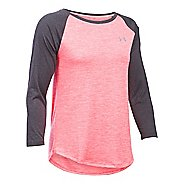 Womens Under Armour Tech 3/4 Sleeves Twist Long Sleeve Technical Tops