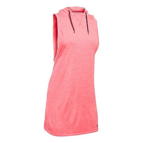 Womens Under Armour Tech Hooded Tunic Twist Sleeveless & Tank Tops Technical Tops - Brilliance ...