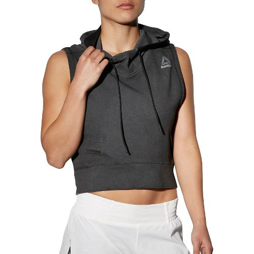 Womens Reebok RNF Glory Half-Zips & Hoodies Technical Tops - Black XS